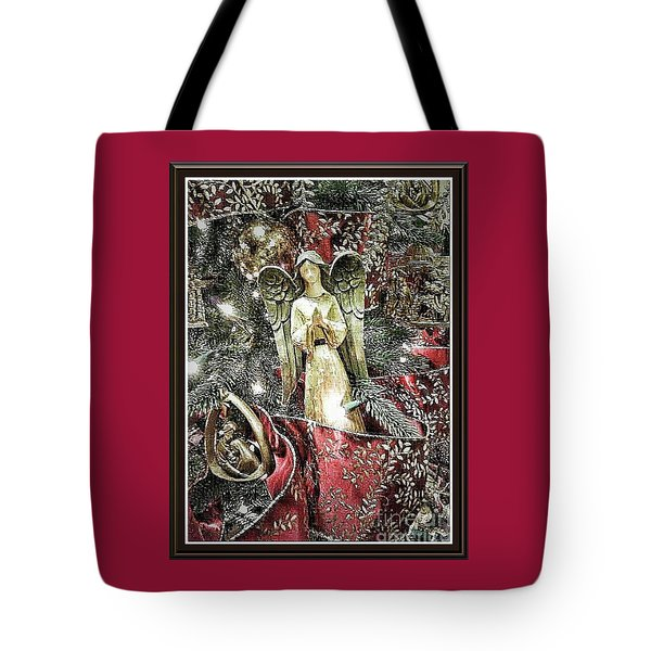 Christmas Angel Greeting Tote Bag