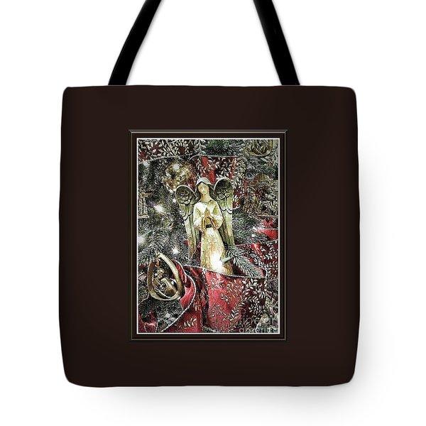 Christmas Angel Greeting Tote Bag