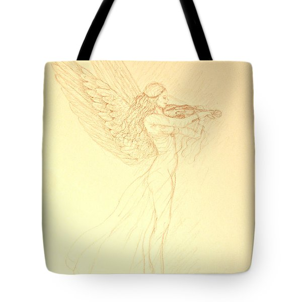 Christmas Angel With Violin Tote Bag