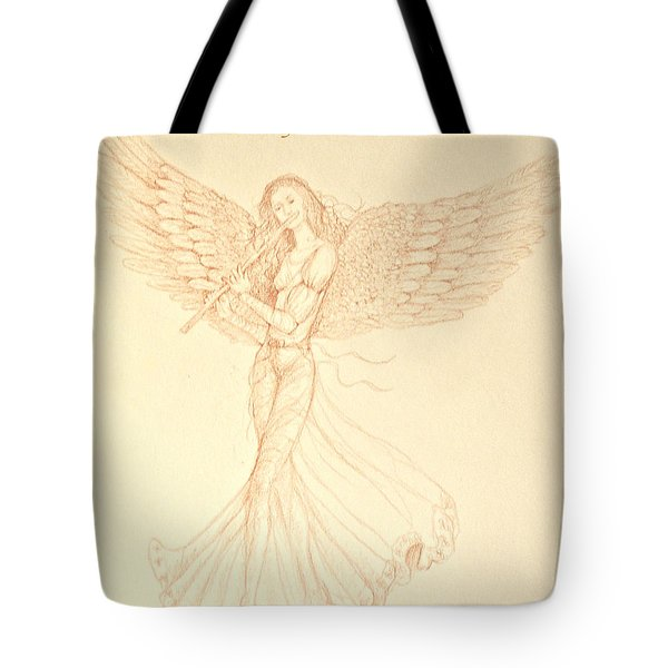 Christmas Angerl With Flute Tote Bag
