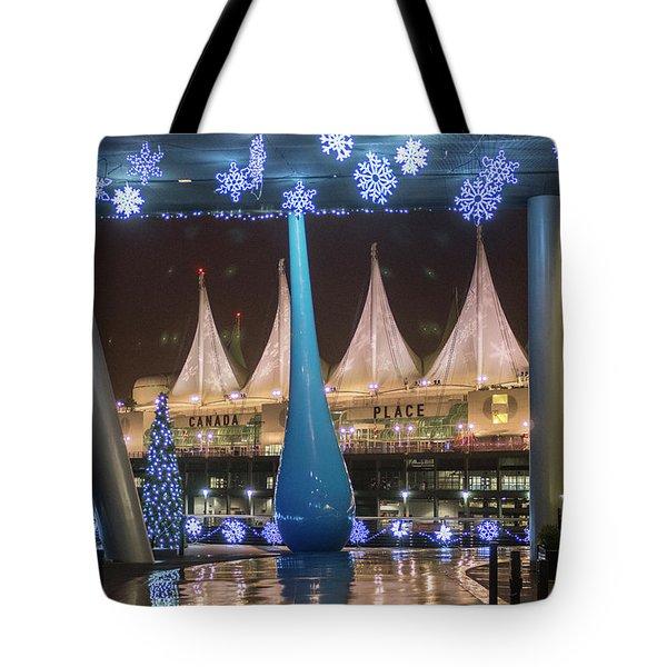Christmas At Canada Place Tote Bag