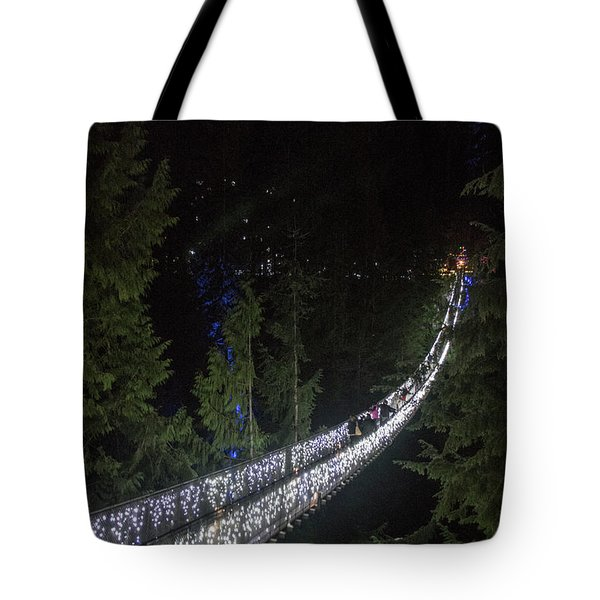 Christmas At Capilano Suspension Bridge Tote Bag