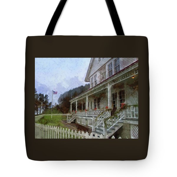 Tote Bag featuring the photograph Christmas At Heceta Head by Thom Zehrfeld