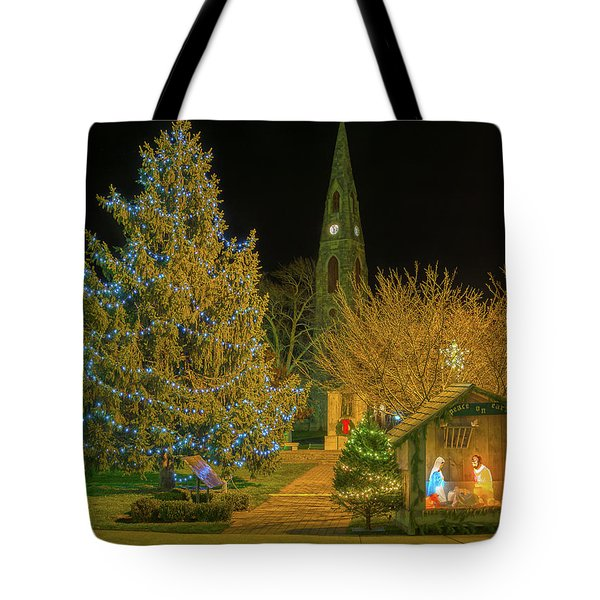 Christmas At The Historic District Of Goshen New York Tote Bag