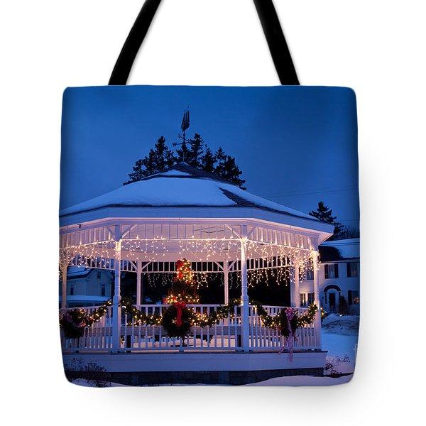 Christmas Bandstand Tote Bag