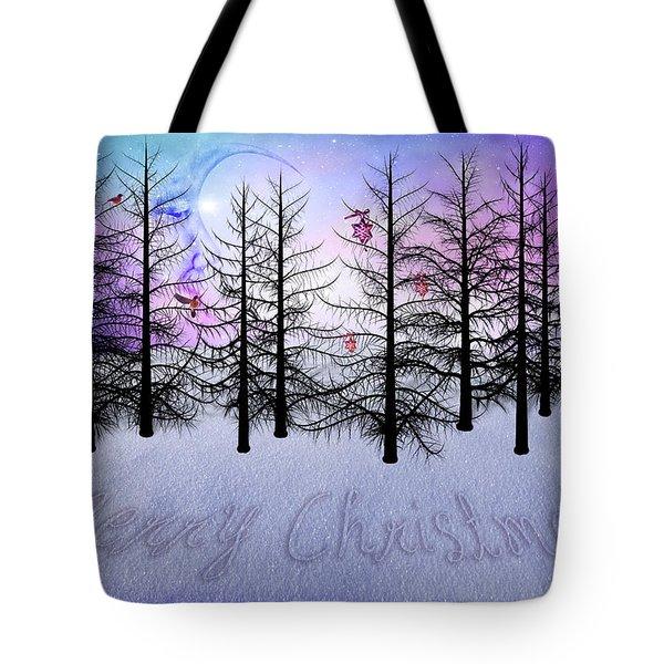Christmas Bare Trees Tote Bag