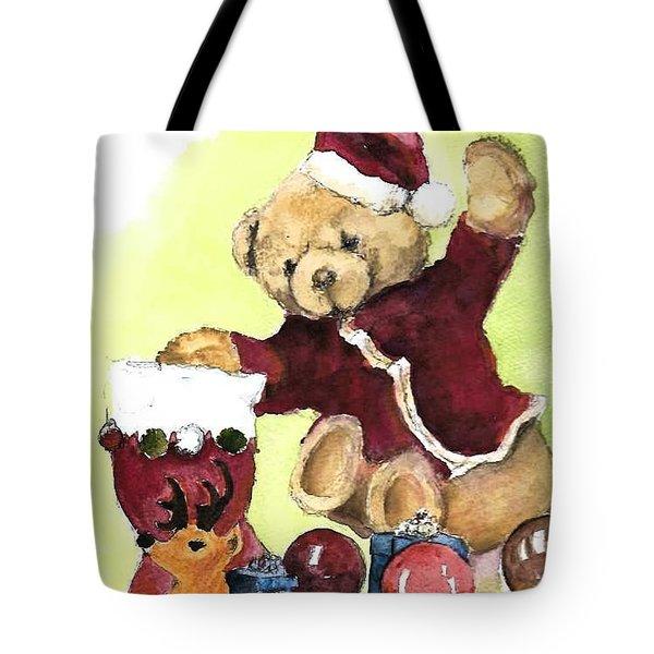 Christmas Bear Tote Bag