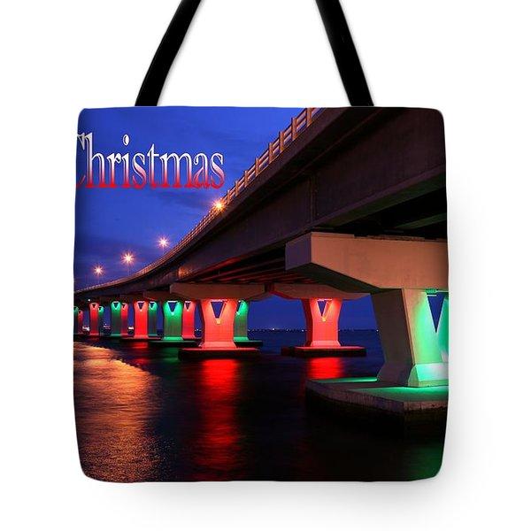 Christmas Bridge Tote Bag by John Loreaux
