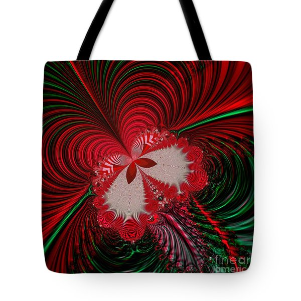 Christmas Butterfly Fractal 63 Tote Bag by Rose Santuci-Sofranko