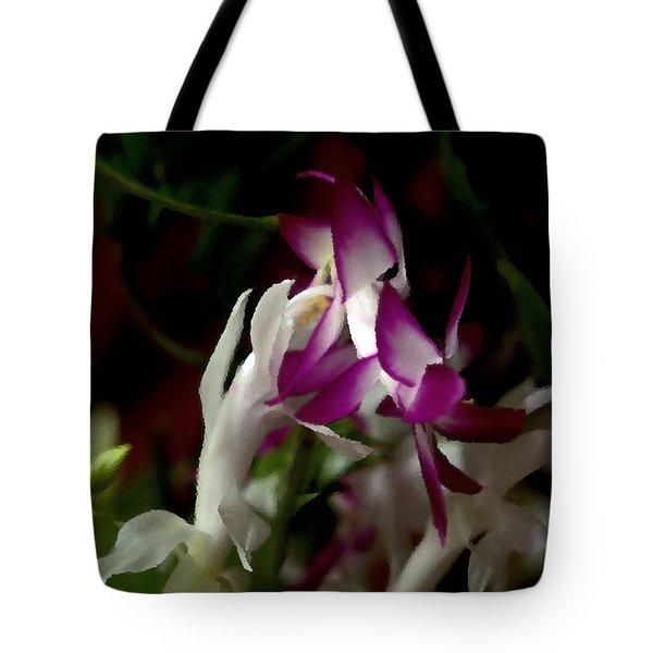 Christmas Cactus Tote Bag by B Wayne Mullins