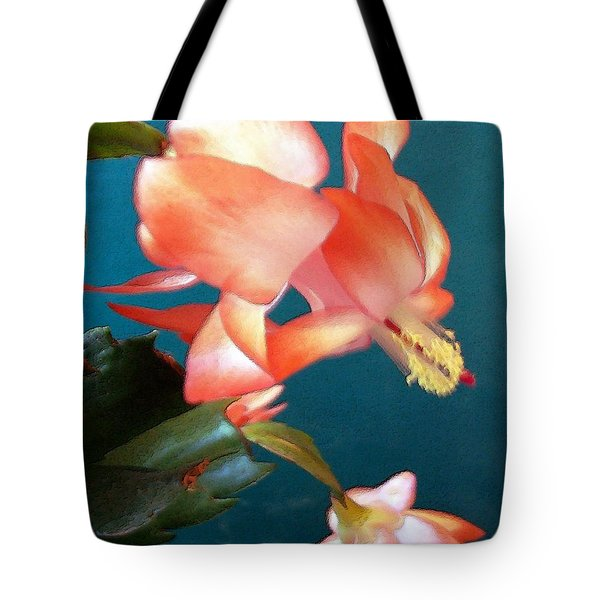 Tote Bag featuring the digital art Christmas Cactus by Deleas Kilgore