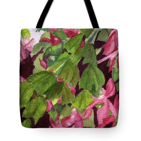 Tote Bag featuring the painting Christmas Cactus by Lynne Reichhart