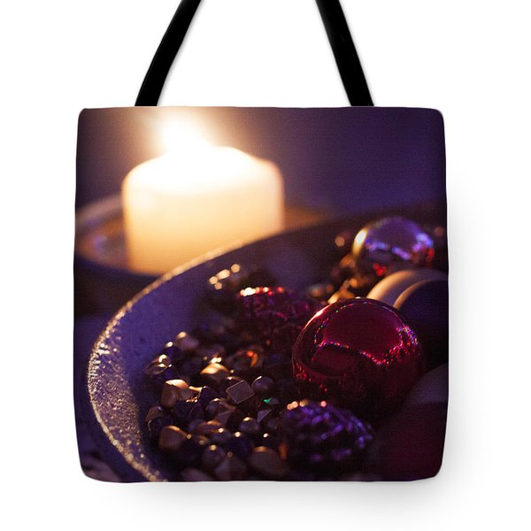 Christmas Candlelight Tote Bag