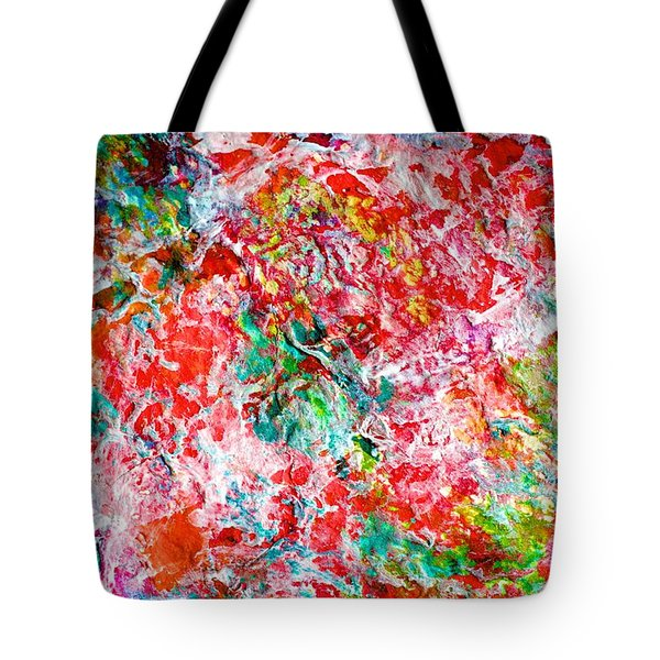 Christmas Candy Color Poem Tote Bag