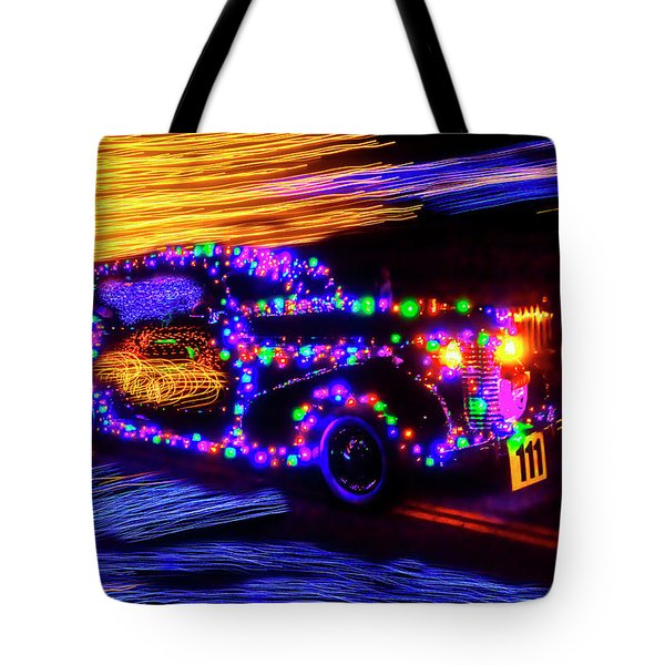 Christmas Car Tote Bag