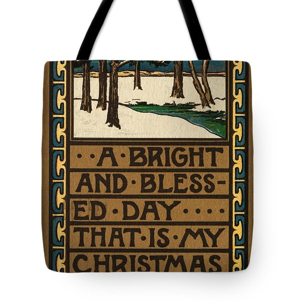 Christmas Card Tote Bag by American School