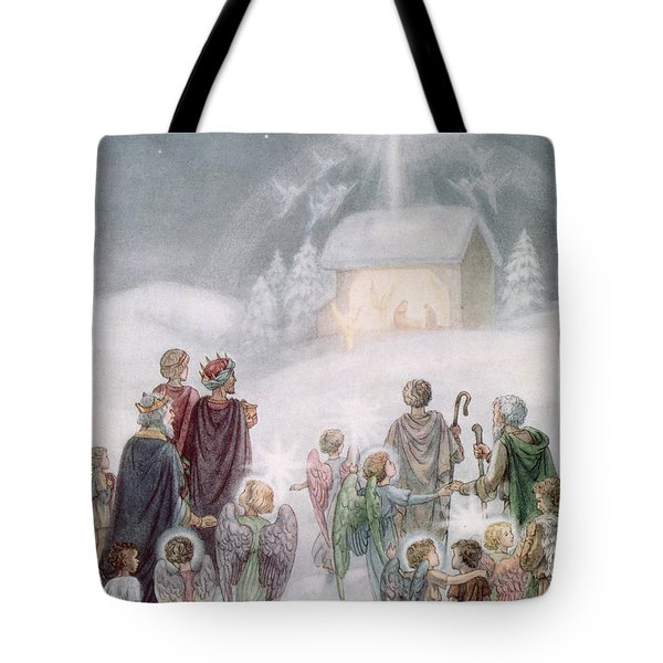 Christmas Card Tote Bag by Daphne Allan