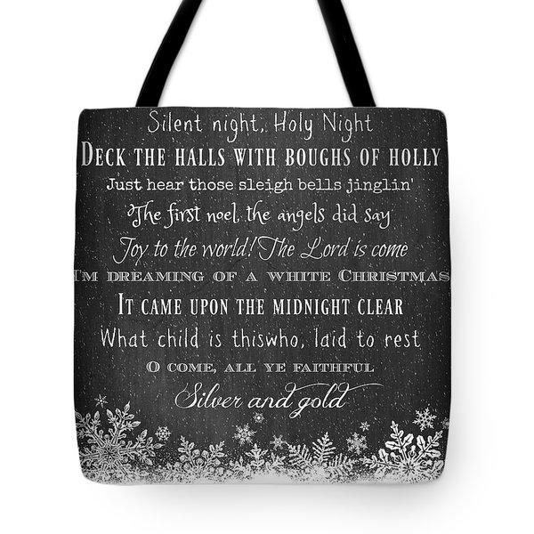 Christmas Carols Tote Bag
