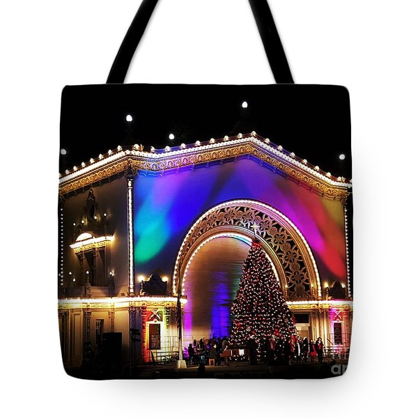 Christmas Celebration In San Diego  Tote Bag by Jasna Gopic