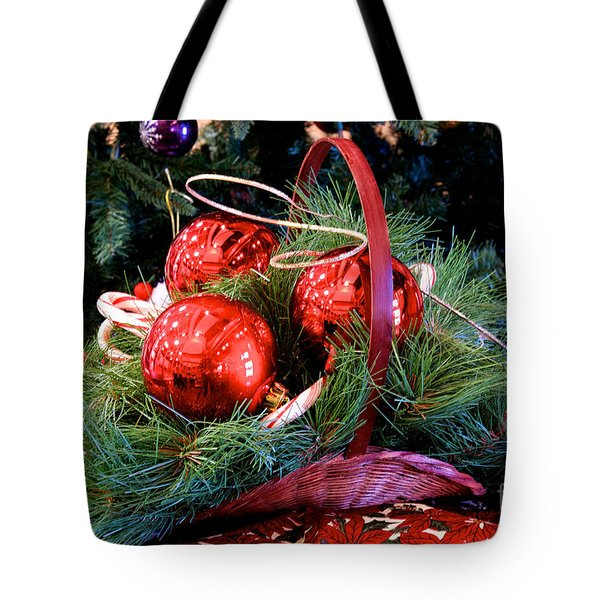 Tote Bag featuring the photograph Christmas Centerpiece by Vinnie Oakes