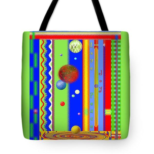 Christmas Joy - Seasons Greetings - Holiday Art Tote Bag