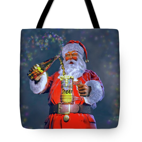 Christmas Cheer Iv Tote Bag by Dave Luebbert