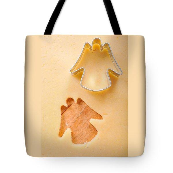 Christmas Cookie Angel Shape Tote Bag