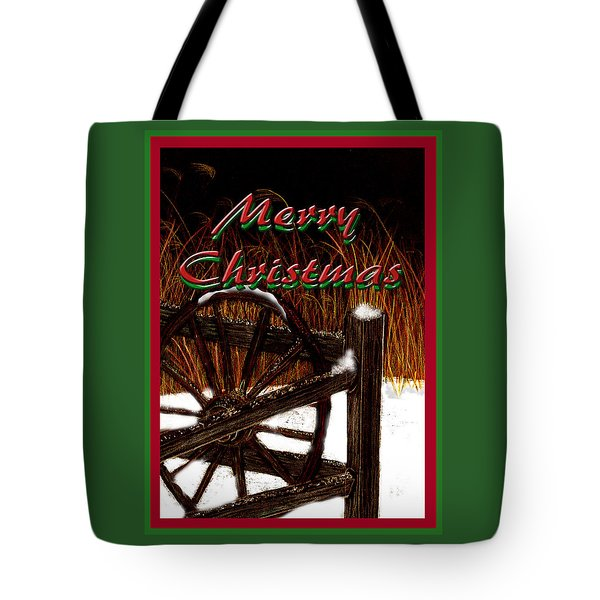 Tote Bag featuring the digital art Christmas Country by Michelle Audas