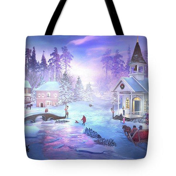 Christmas Creek Tote Bag