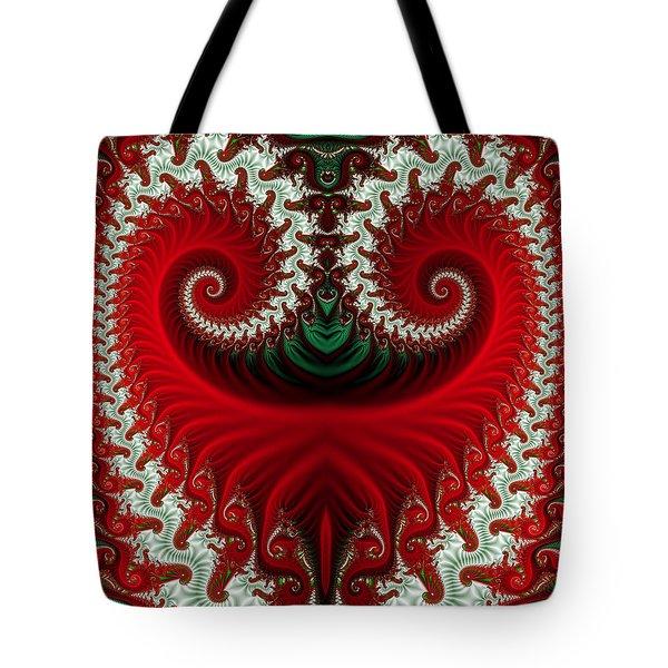 Christmas Swirls Tote Bag