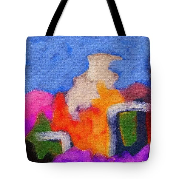 Christmas Day Tote Bag by Judith Chantler