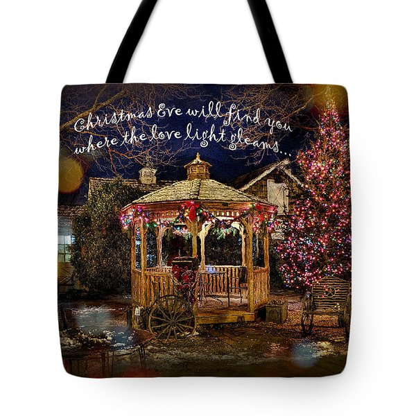 Tote Bag featuring the digital art Christmas Eve Card 2016 by Kathryn Strick