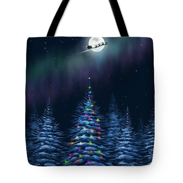 Tote Bag featuring the painting Christmas Eve by Veronica Minozzi