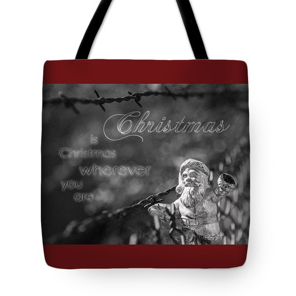 Christmas Everywhere Tote Bag by Caitlyn Grasso