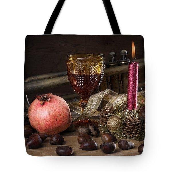 Christmas Fall Still-life Tote Bag