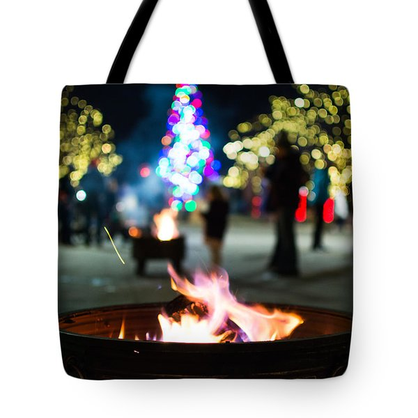 Christmas Fire Pit Tote Bag