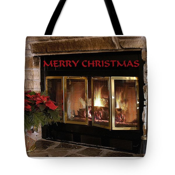 Christmas Fireplace Tote Bag by Geraldine Alexander