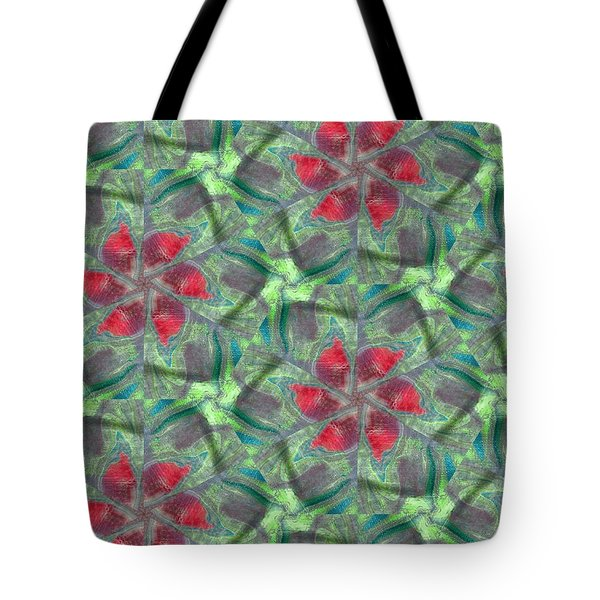 Christmas Flowers Tote Bag