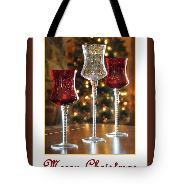 Christmas Glass Candle Holders Tote Bag by Geraldine Alexander