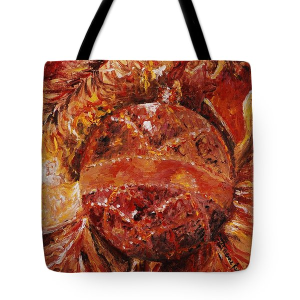 Christmas Glitter Tote Bag by Nadine Rippelmeyer