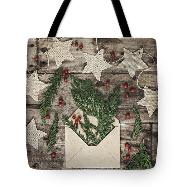Tote Bag featuring the photograph Christmas Greens by Kim Hojnacki
