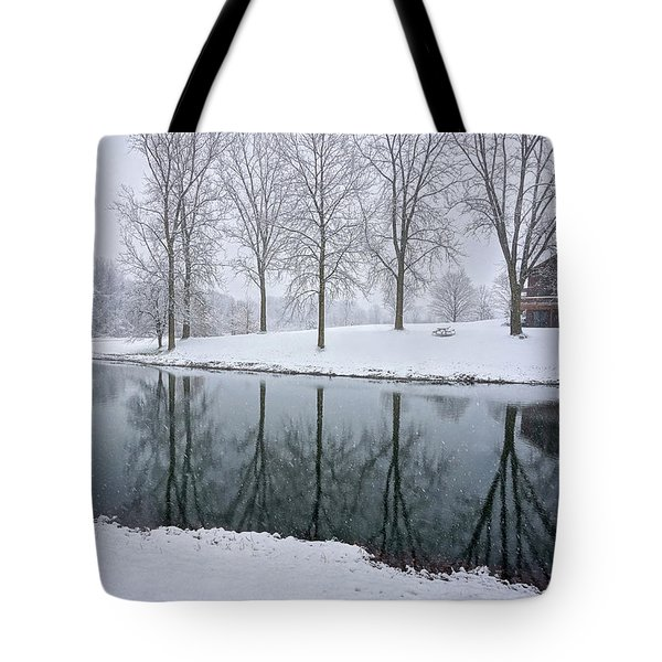 Tote Bag featuring the photograph Winter Landsape by Kathi Mirto