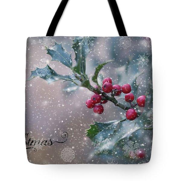 Christmas Holly Tote Bag