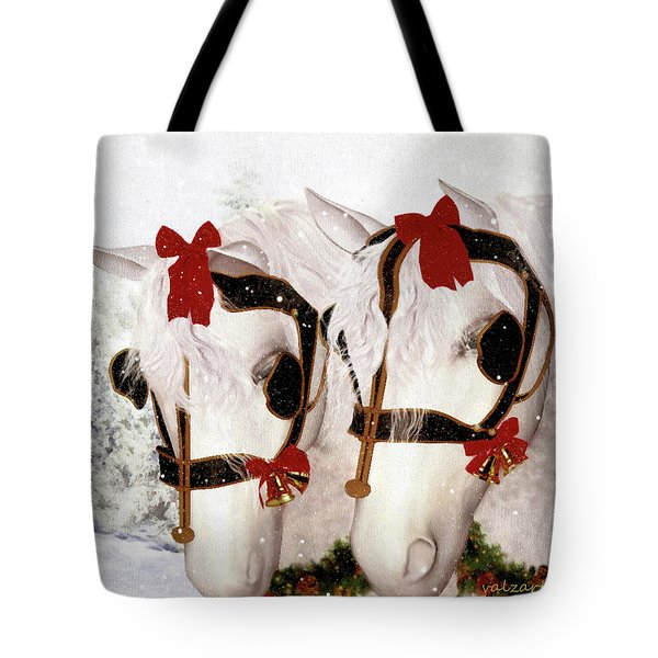 Tote Bag featuring the painting  Snowflake And Holly by Valerie Anne Kelly
