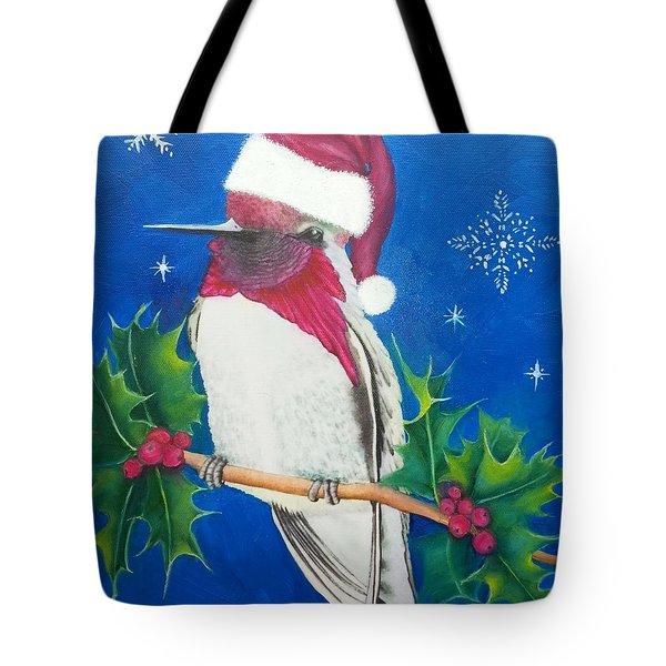 Christmas Hummer Tote Bag