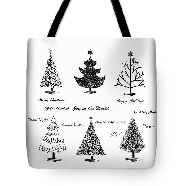 Tote Bag featuring the photograph Christmas Illustration by Stephanie Frey