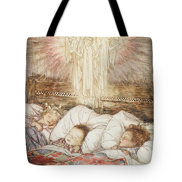 Christmas Illustrations From The Night Before Christmas Tote Bag by Arthur Rackham