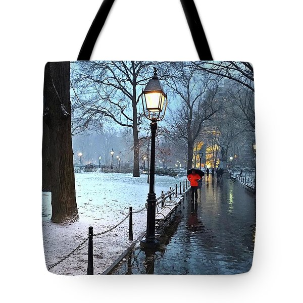 Christmas In Central Park Tote Bag