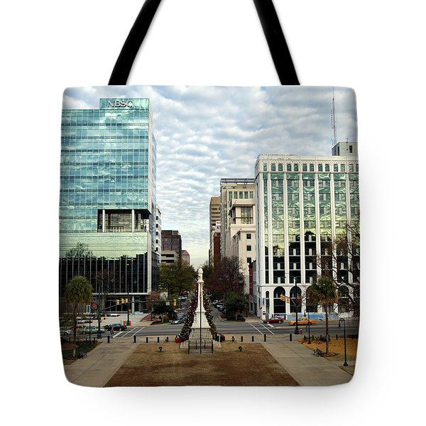 Christmas In Columbia Sc Tote Bag by Skip Willits