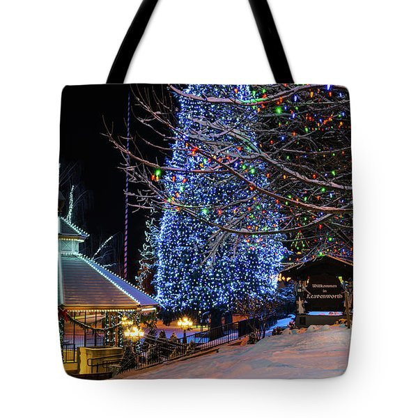 Tote Bag featuring the photograph Christmas In Leavenworth by Dan Mihai